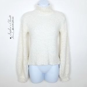 Ten Sixty Sherman White Cozy Pullover Sweater